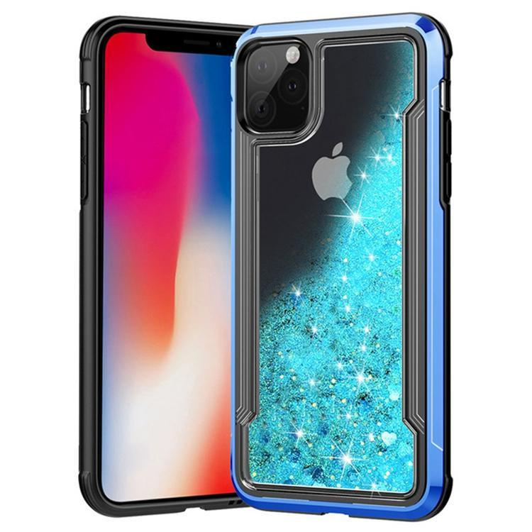 Liquid Glitter Hard Shell Case for iPhone 11 - Blue
