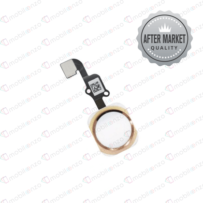Homebutton With Flex for iPhone 6S (Aftermarket Quality) - Gold