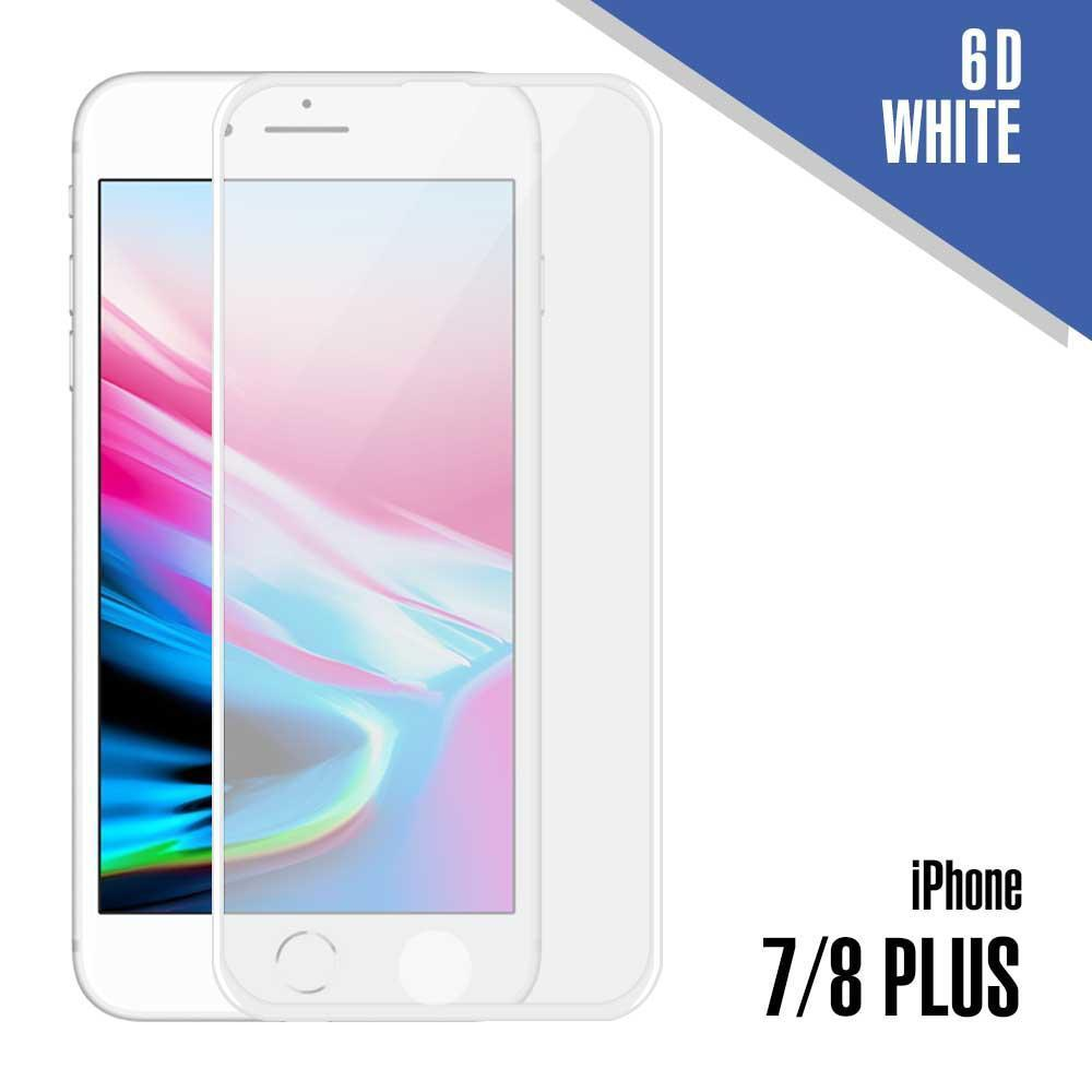 6D Tempered Glass for iPhone 7 Plus, 8 Plus - White
