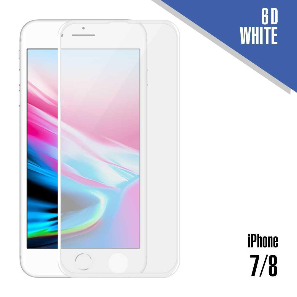 6D Tempered Glass for iPhone 7, 8, SE (2020) - White