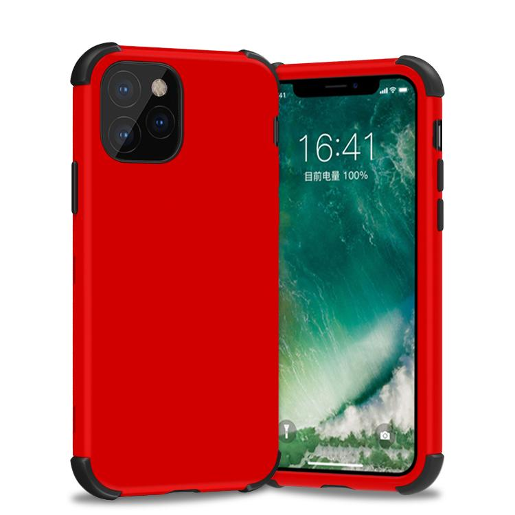 Bumper Hybrid Combo Layer Protective Case for iPhone 11 - Red and Black