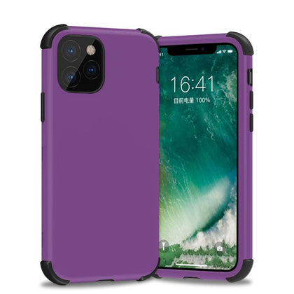 Bumper Hybrid Combo Layer Protective Case for iPhone 11 Pro Max - Light Purple and Purple
