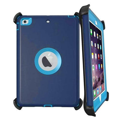 DualPro Protector for Ipad Air 2 & iPad 9.7' - Dark Blue & Light Blue