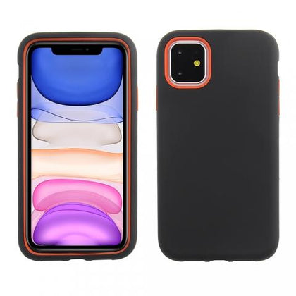 Hybrid Combo Layer Protective Case for iPhone 11 - Black & Red
