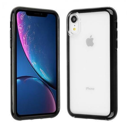 Hard Shell Transparent Back Case for iPhone XR - Black Edge
