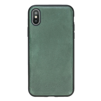 BNT Leather Wallet Magnet Magic Case - Crazy - iPhone X - Turquoise