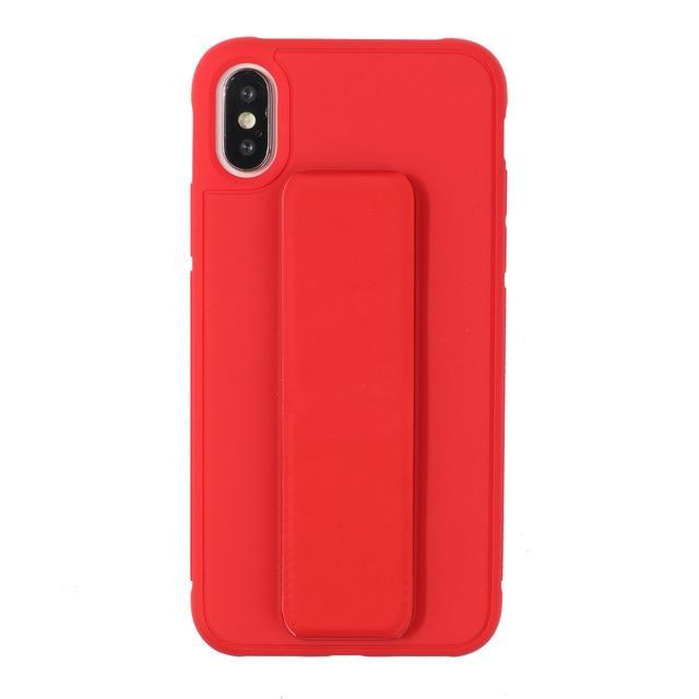 Wrist Strap Case for iPhone Xs Max- Red