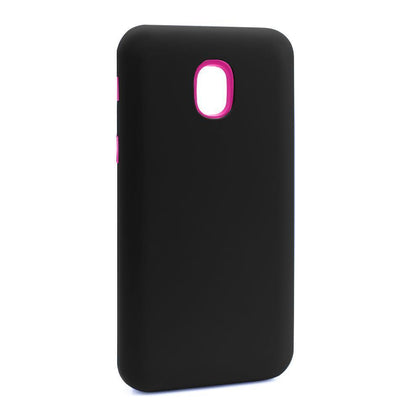 Hybrid Combo Layer Protective Case for Samsung J3 2018 - Black & Pink