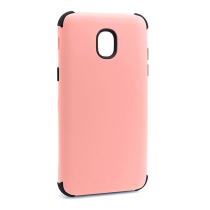 Bumper Hybrid Combo Layer Protective Case for Samsung J3 2018 - Light Pink & Black