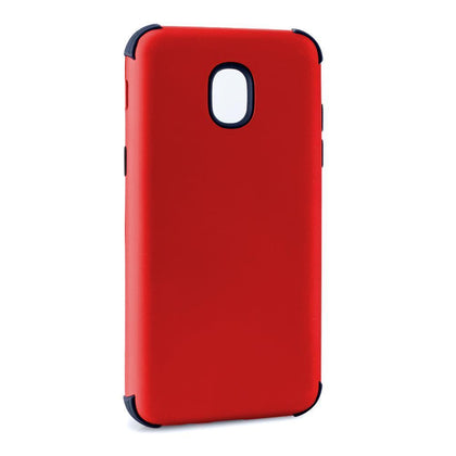 Bumper Hybrid Combo Layer Protective Case for Samsung J3 2018 - Red & Black