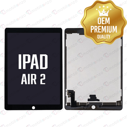 LCD with Digitizer for iPad Air 2 Refurbished - Black