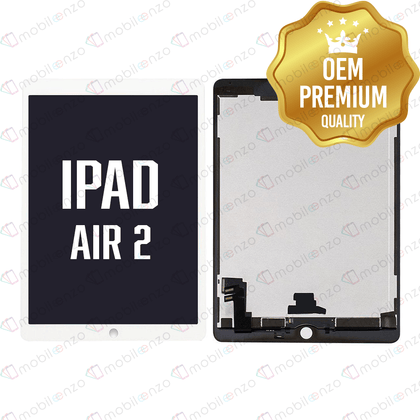 LCD with Digitizer for iPad Air 2 Refurbished - White