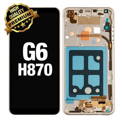 LCD Assembly for LG G6 with Frame (Premium Quality) - Gold | MobilEnzo