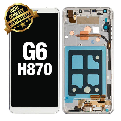 LCD Assembly for LG G6 with Frame (Premium Quality) - White | MobilEnzo
