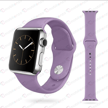 Premium Silicone Bands For iWatch 38mm - Light Purple