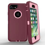 DualPro Protector Case for i7 /8 - Burgundy & Light Pink