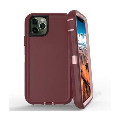 DualPro Protector Case for iPhone 11 - Burgundy & Light Pink