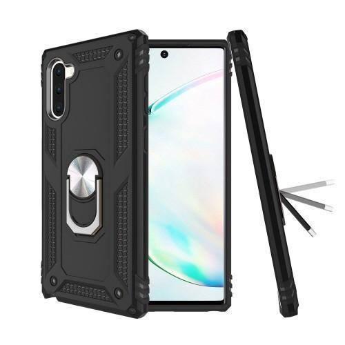 Military Armor Ring Case for Samsung Galaxy Note 10 Plus - Black