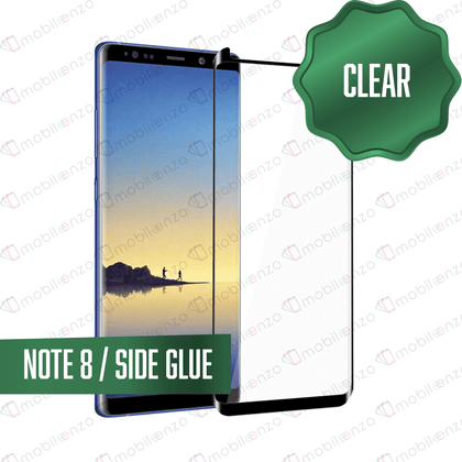 Tempered Glass for Samsung Galaxy Note Series - Note 8 -Case Friendly  Black