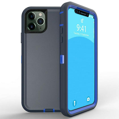 DualPro Protector Case for iPhone 11 - Dark Blue & Blue