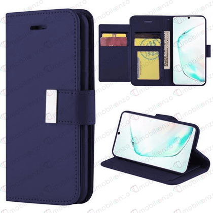 Flip Leather Wallet Case for Note 20 - Dark Blue