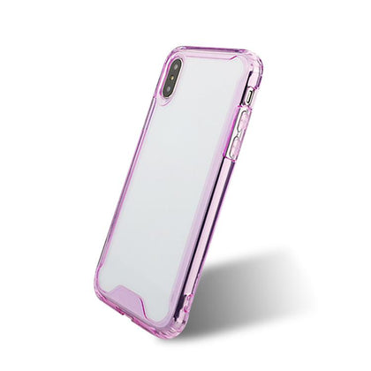 Acrylic Transparent Case for iPhone XR - Purple