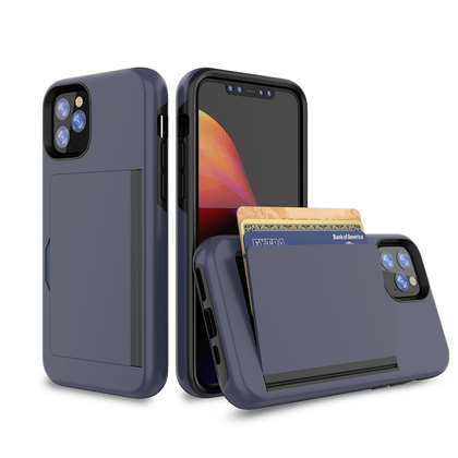Card Zero Case for iPhone 11 - Dark Blue