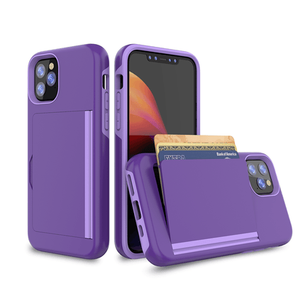 Card Zero Case for iPhone 11 - Purple