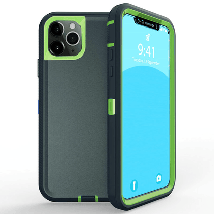 DualPro Protector Case for iPhone 11  - Dark Green & Light Green