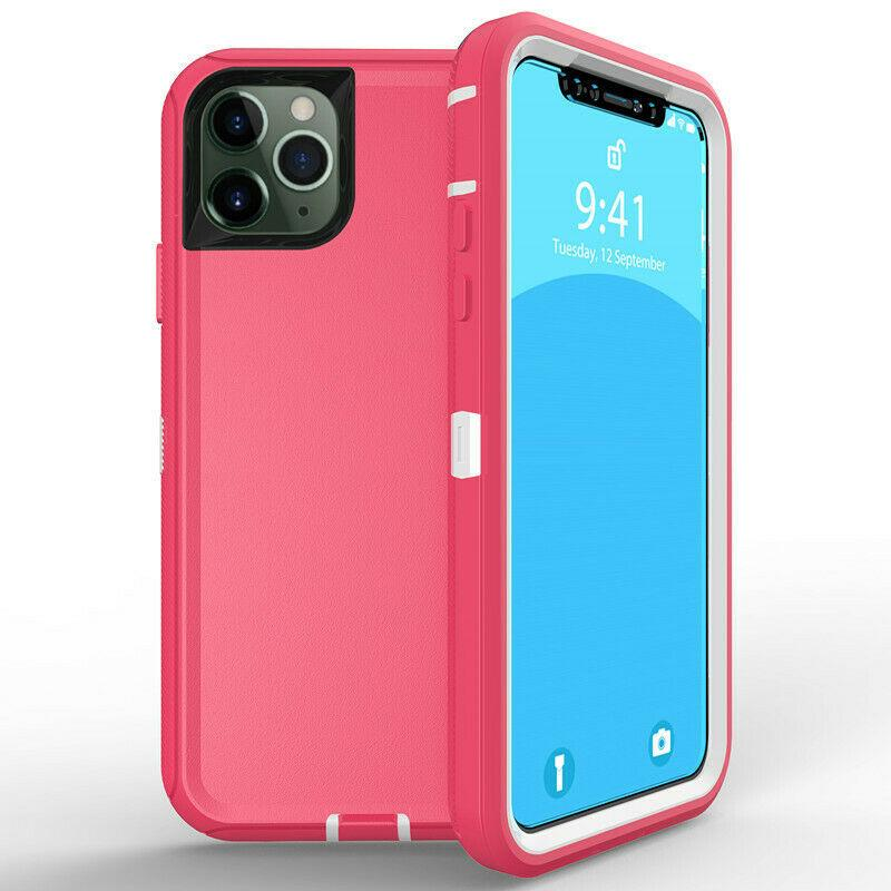 DualPro Protector Case for iPhone 11 Pro Max - Pink & White