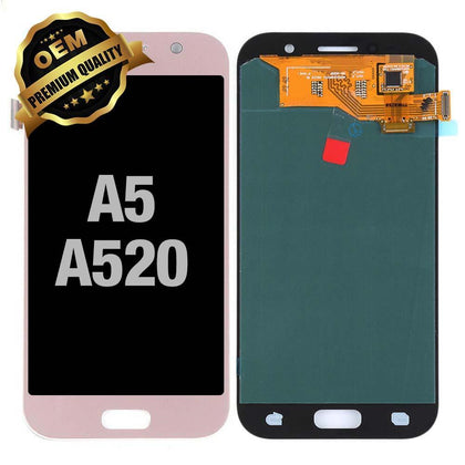 LCD Assembly for  GALAXY A5 (A520 / 2017) (Premium) - Pink