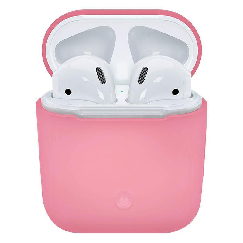 Soft Silicone Case for Apple Airpods - Pink