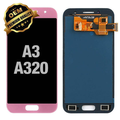 LCD Assembly for GALAXY A3 (A320 / 2017) (Premium) - Pink