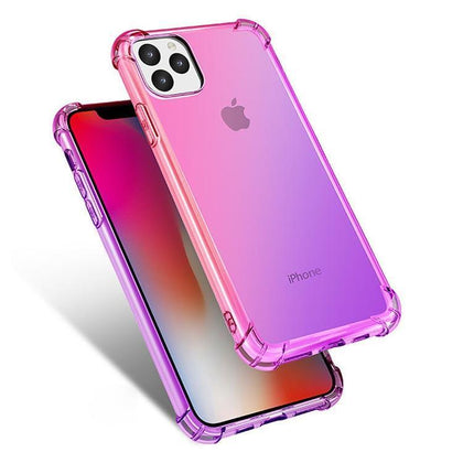Colorful Clear Case for Samsung Galaxy Note 10 Plus - Pink & Purple