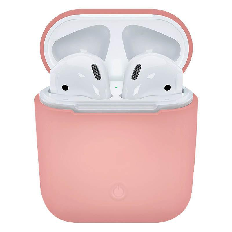 Soft Silicone Case for Apple Airpods - Pink Sand