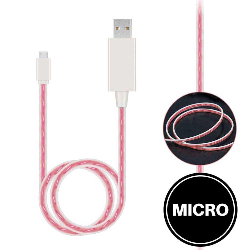Light Up Cable for Micro - Pink