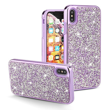 Color Diamond Hard Shell Case for iPhone XR - Purple
