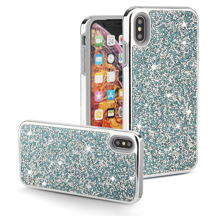Color Diamond Hard Shell Case for iPhone X, XS - Blue