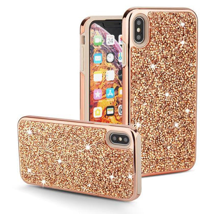 Color Diamond Hard Shell Case for iPhone Xs Max - Champagne Gold