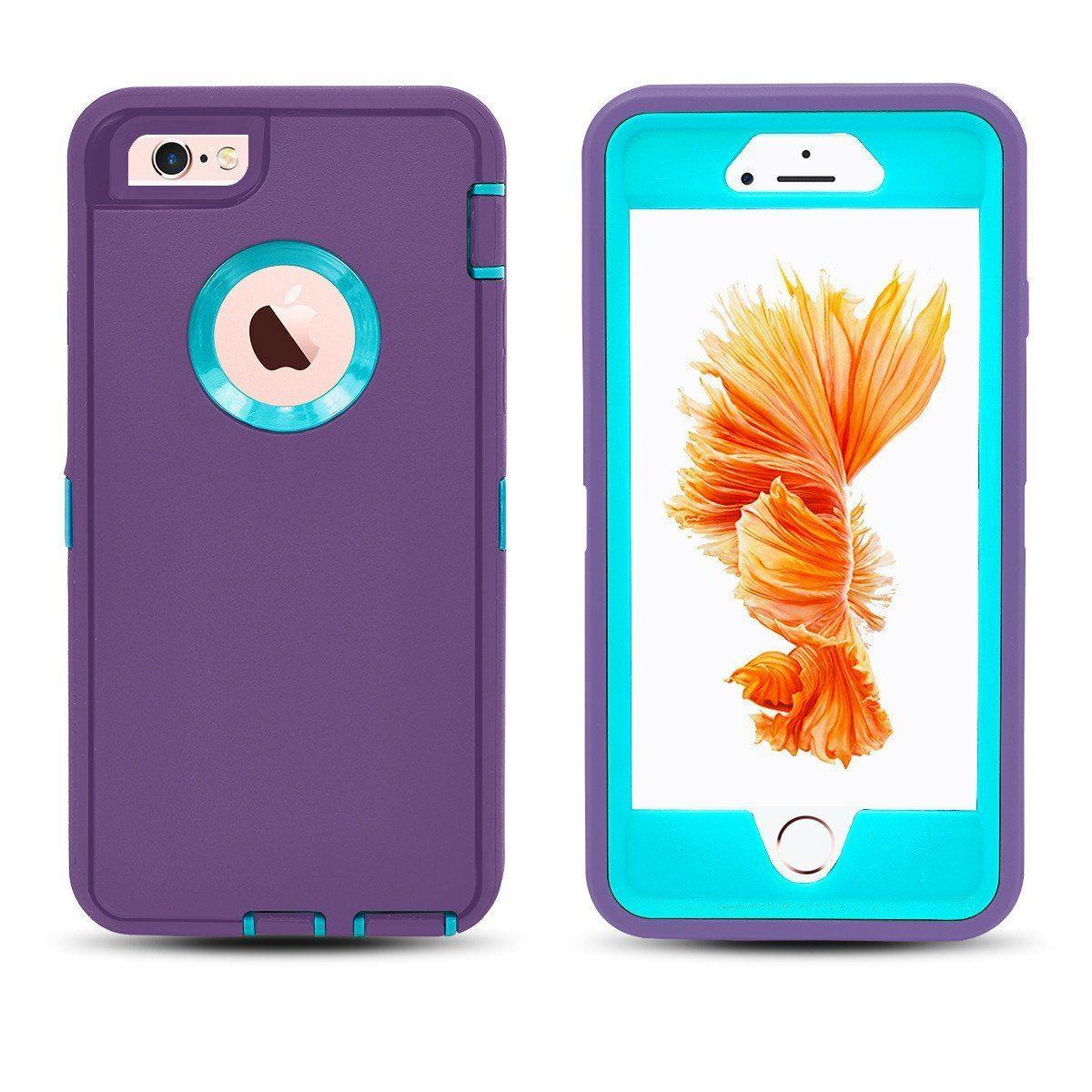 DualPro Protector Case for iPhone 6 - Purple & Light Blue
