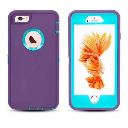 DualPro Protector Case for i7 /8 - Purple & Light Blue