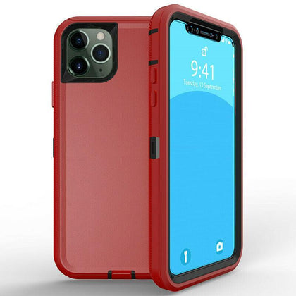 DualPro Protector Case for iPhone 11 Pro Max - Red & Black