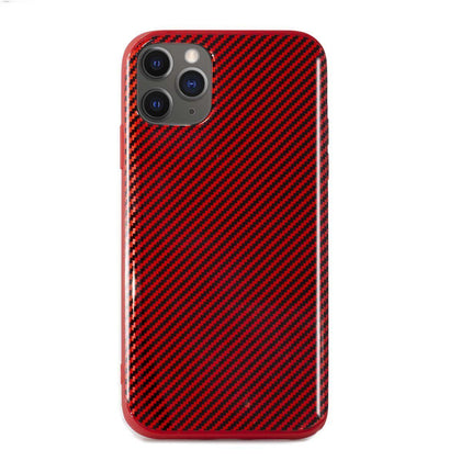 Carbon Case for iPhone 11 Pro- Red