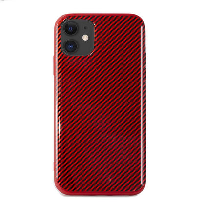 Carbon Case for iPhone 11 - Red