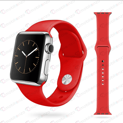 Premium Silicone Bands For iWatch 38mm - Red