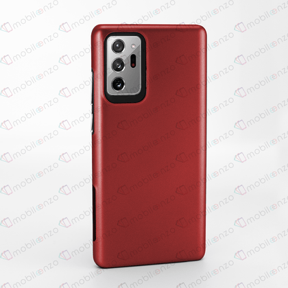 2 in 1 Premium Silicone Case for Note 20 Ultra - Red