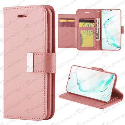 Flip Leather Wallet Case for Note 20 - Rose Gold