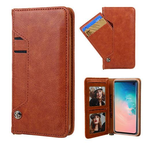 Ludic Leather Wallet Case For iPhone Xs Max - Brown