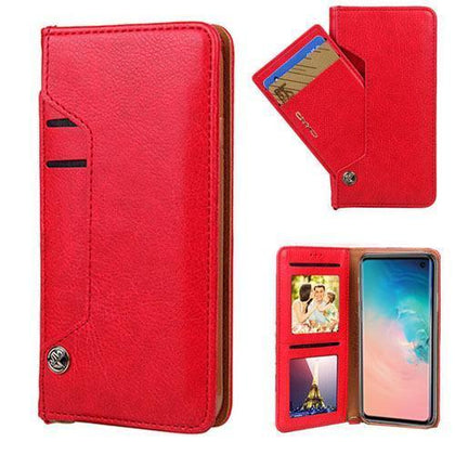 Ludic Leather Wallet Case For Samsung Galaxy Note 10 Plus - Red