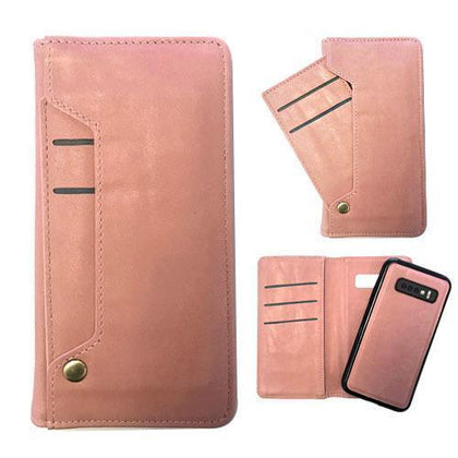 Ludic Leather Wallet Case For Samsung Galaxy Note 10 Plus - Rose Gold
